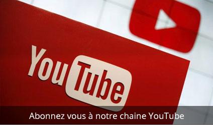 Pour vous abonner à notre chaîne YouTube, Cliquez sur le visuel